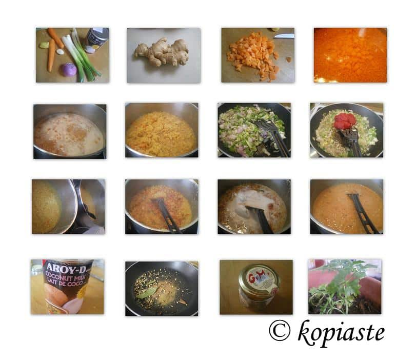Collage Red lentil Soup