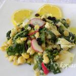 Aromatic Blackeyed Peas with Wild Greens and Quinoa