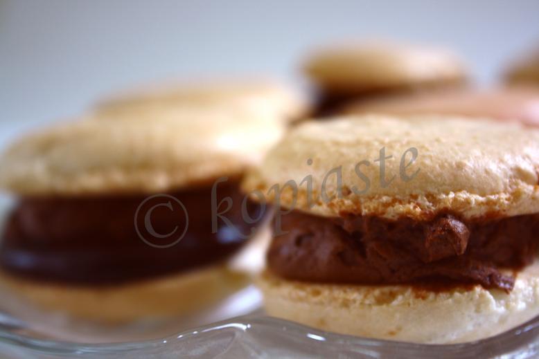 Chocolate Macaron marked