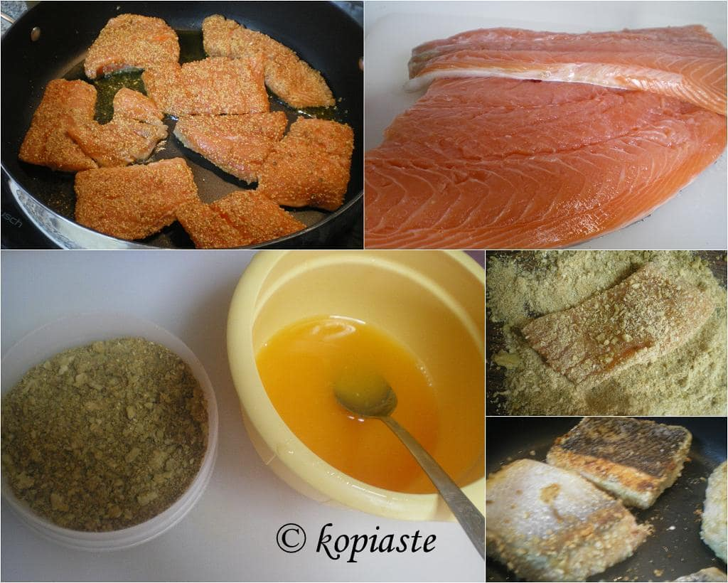 Collage Orange glazed Salmon marked