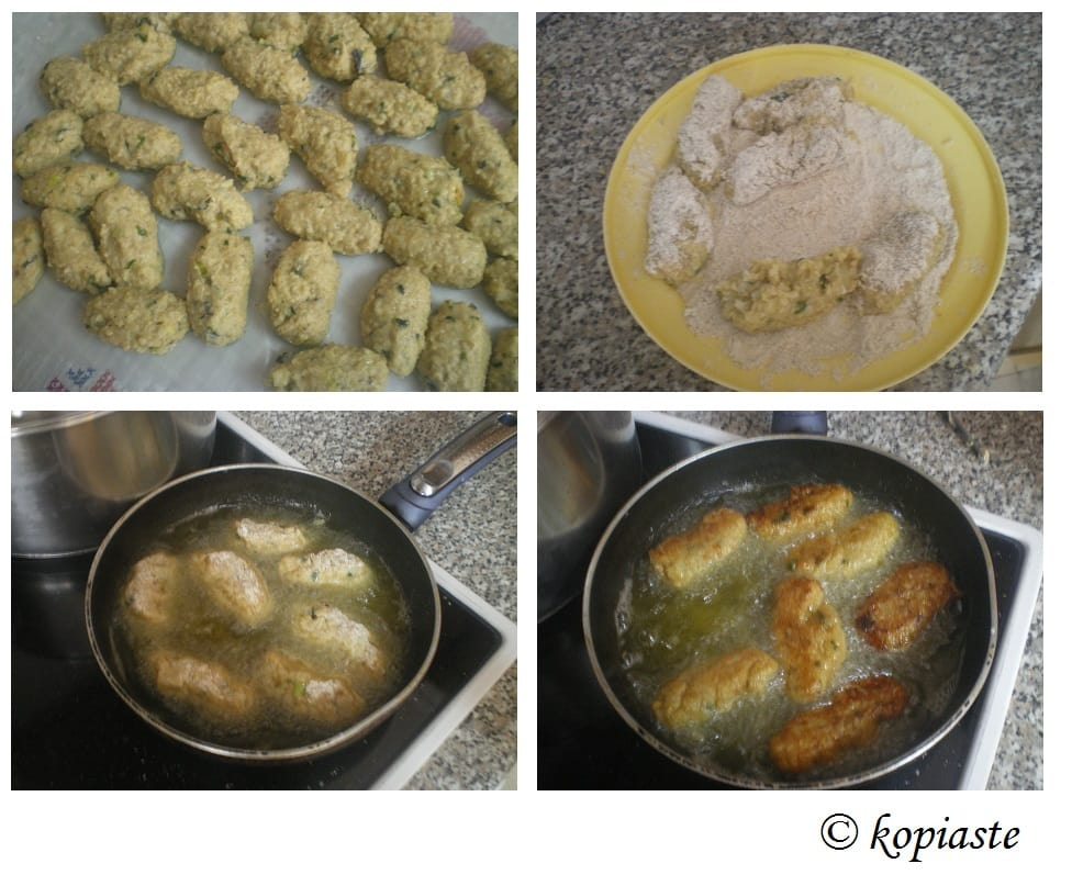 Collage fritters