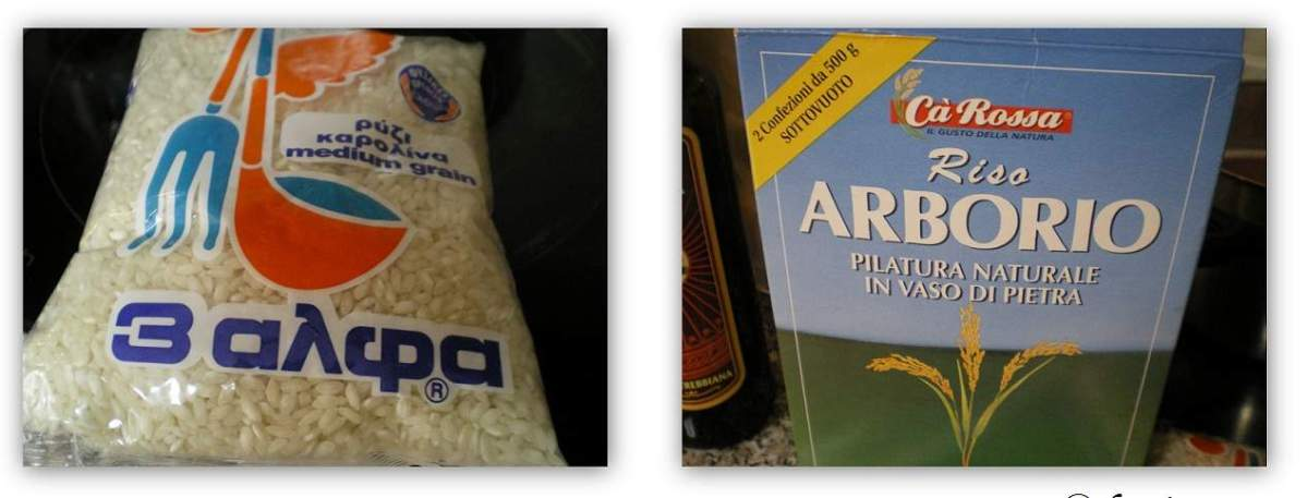 Carolina and Arborio rice