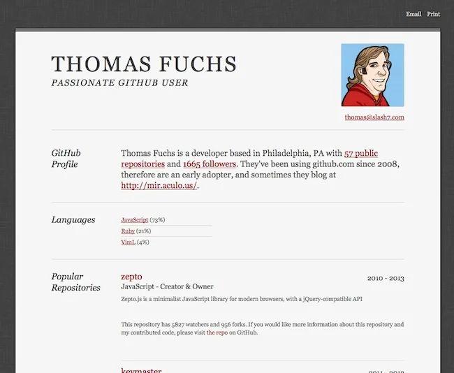 exemple encard mon profil sur un cv