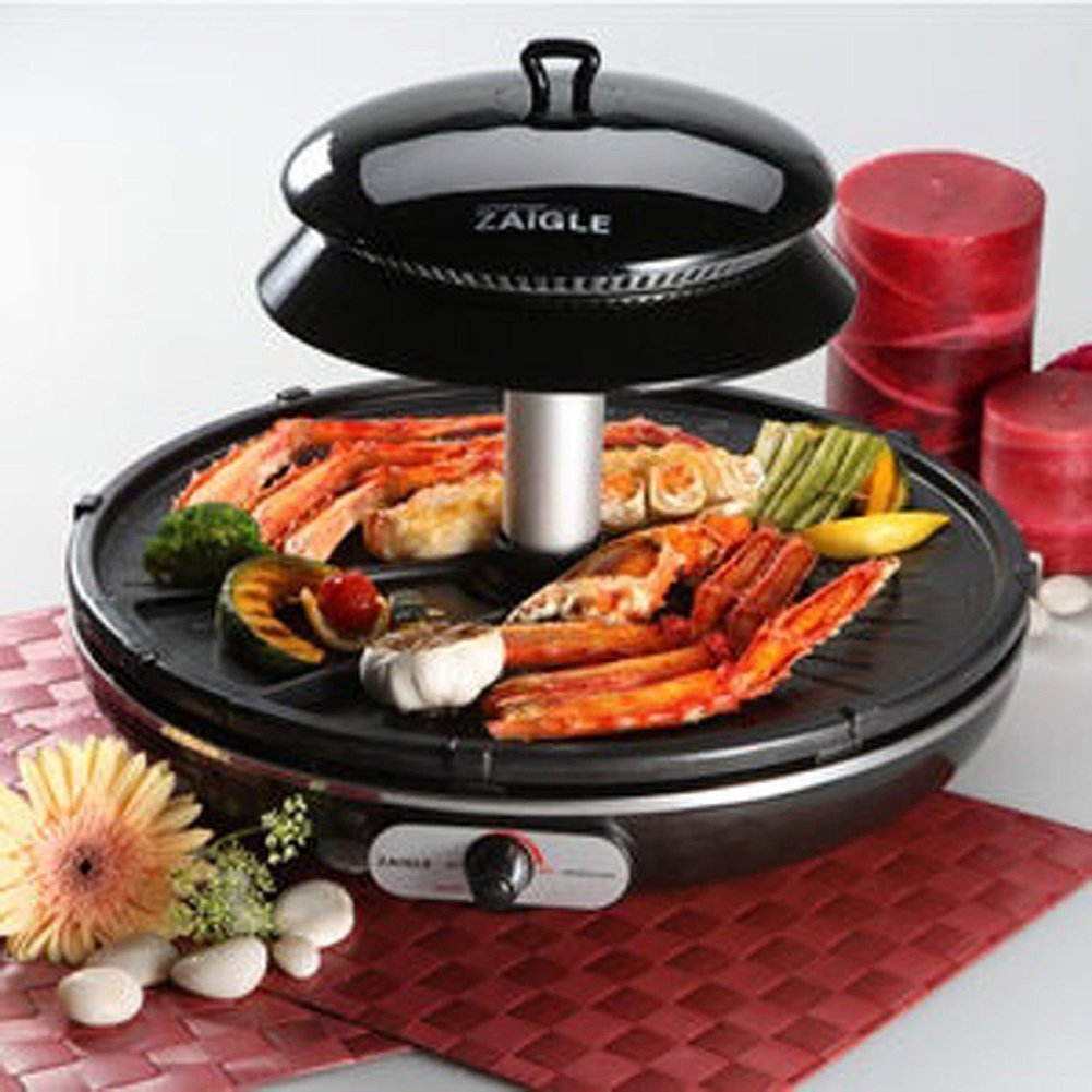 Bbq Hoes Action Zaigle Zr 0907 Infrared Ray Well Being Roaster Indoor Electric Grill Black