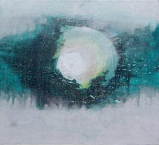Francesca Cho: Peace, 2001. Oil & mixed media on canvas, 64x59cm