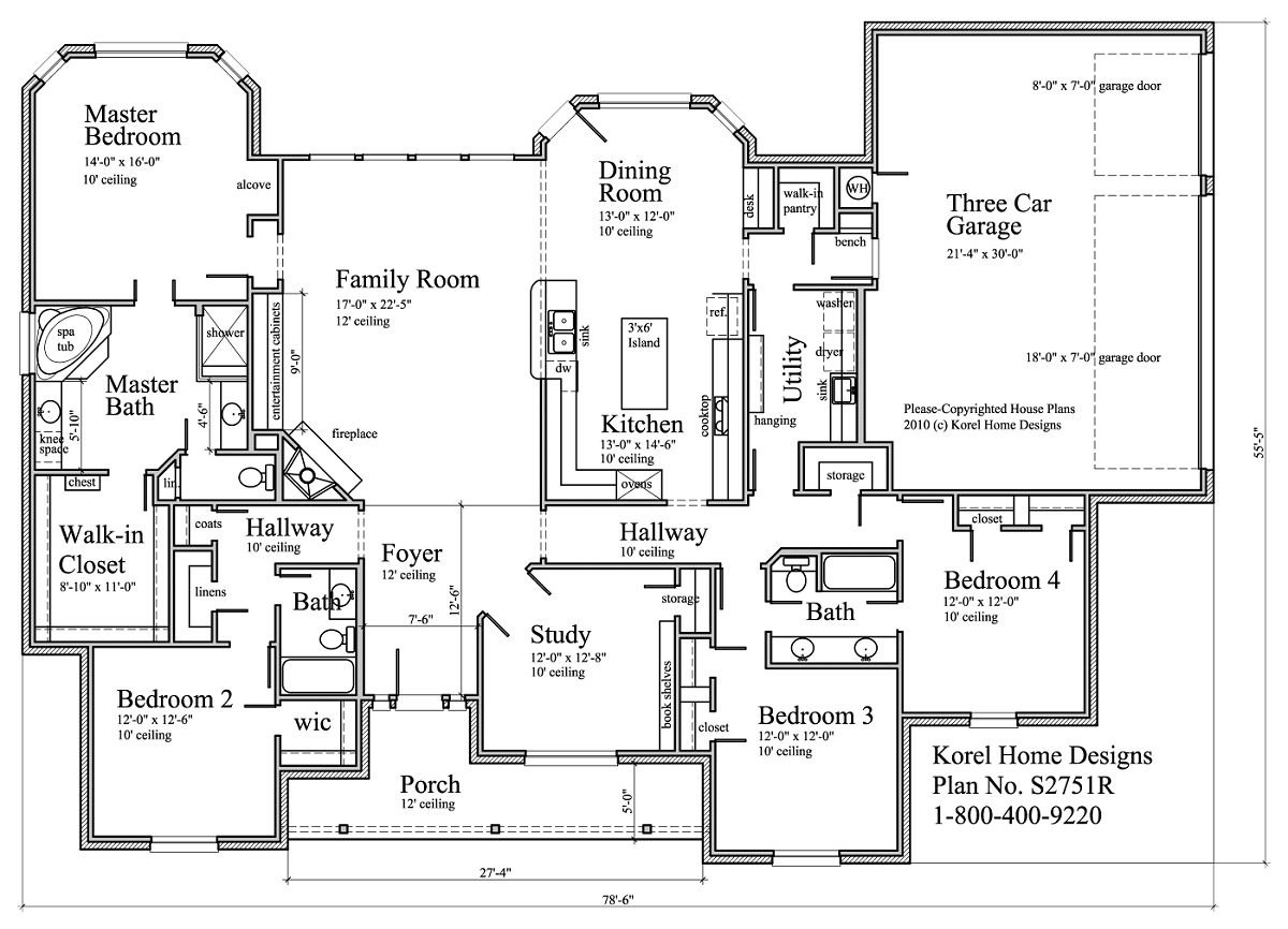 House Designs And Floor Plans S2751r Texas House Plans Over 700 Proven Home Designs