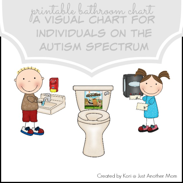 Printable Bathroom Routine Chart for Potty Training an Autistic Child