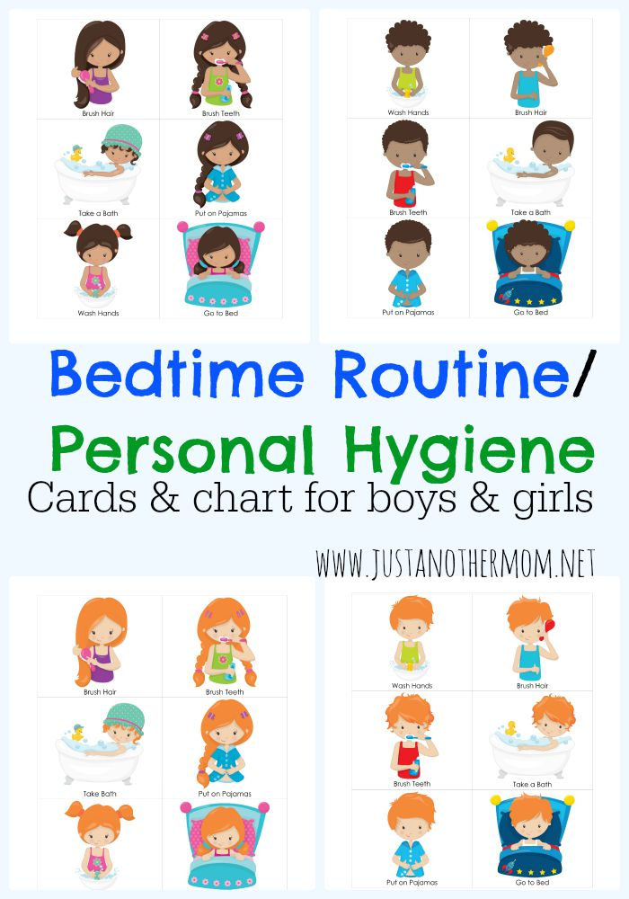 Bedtime Routine Chart and Cards