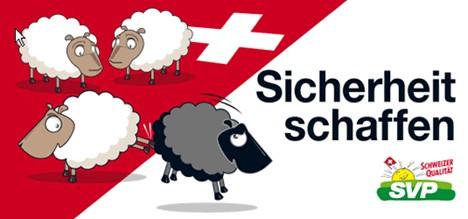 SVP Plakta Schwarzes Schaf