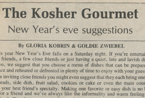 The Kosher Gourmet: New Year's Eve Suggestions