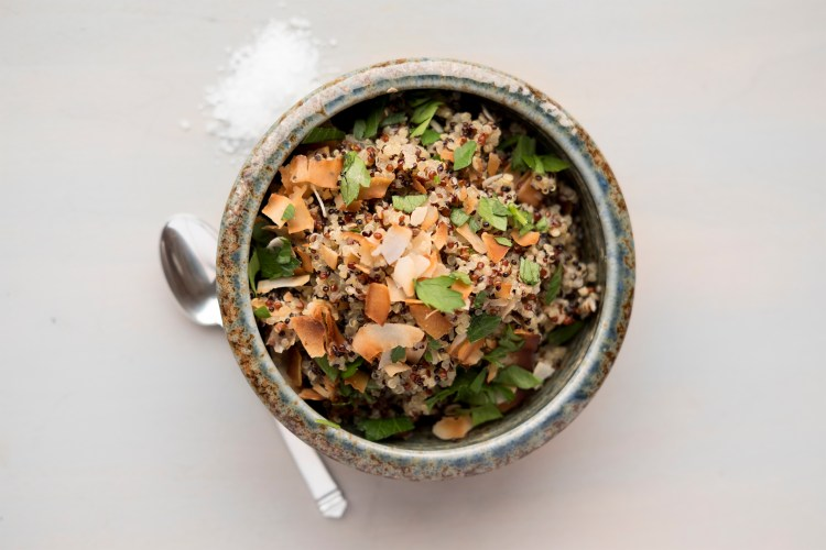 Quinoa with Toasted Coconut
