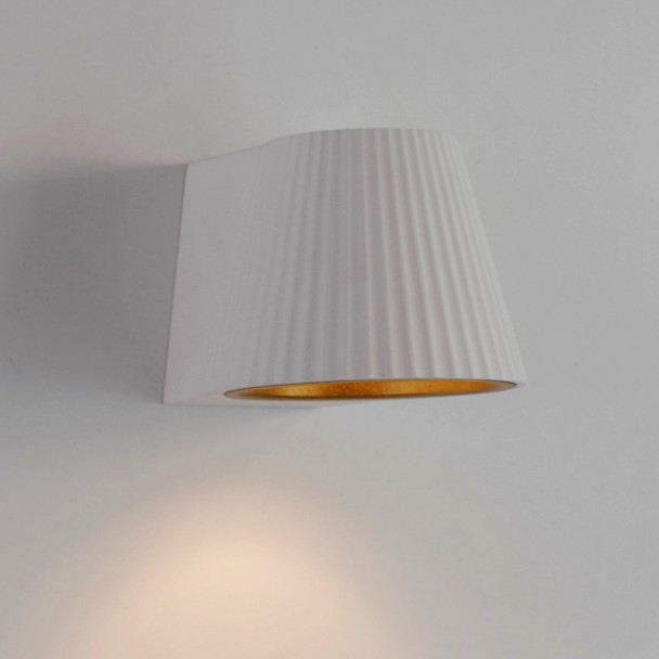 E14 Led Bulb White Wall Light With A Gold Lining Aro | Kosilight.uk