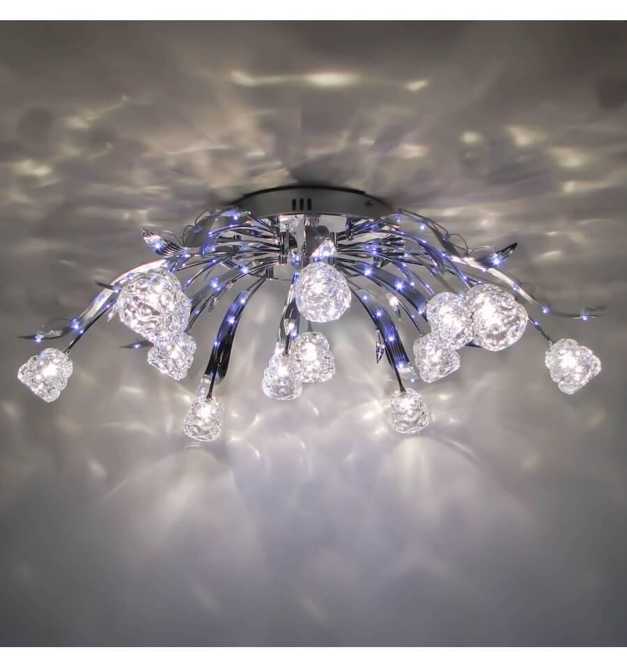 Crystal Ceiling Lights Crystal Ceiling Light | Blue LED Tulips - KosiLight