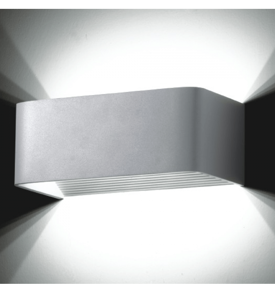Eclairage Exterieur Solaire Telecommande Wall Light - Led Design Rectangle Quadra 6x1w - 20cm