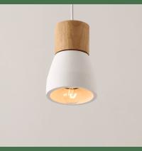 Minimalist Pendant Light made of White Concrete | Vika