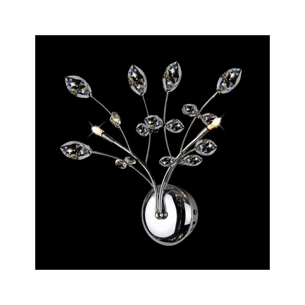 Applique Cristal Applique Cristal Chrome Design Floral