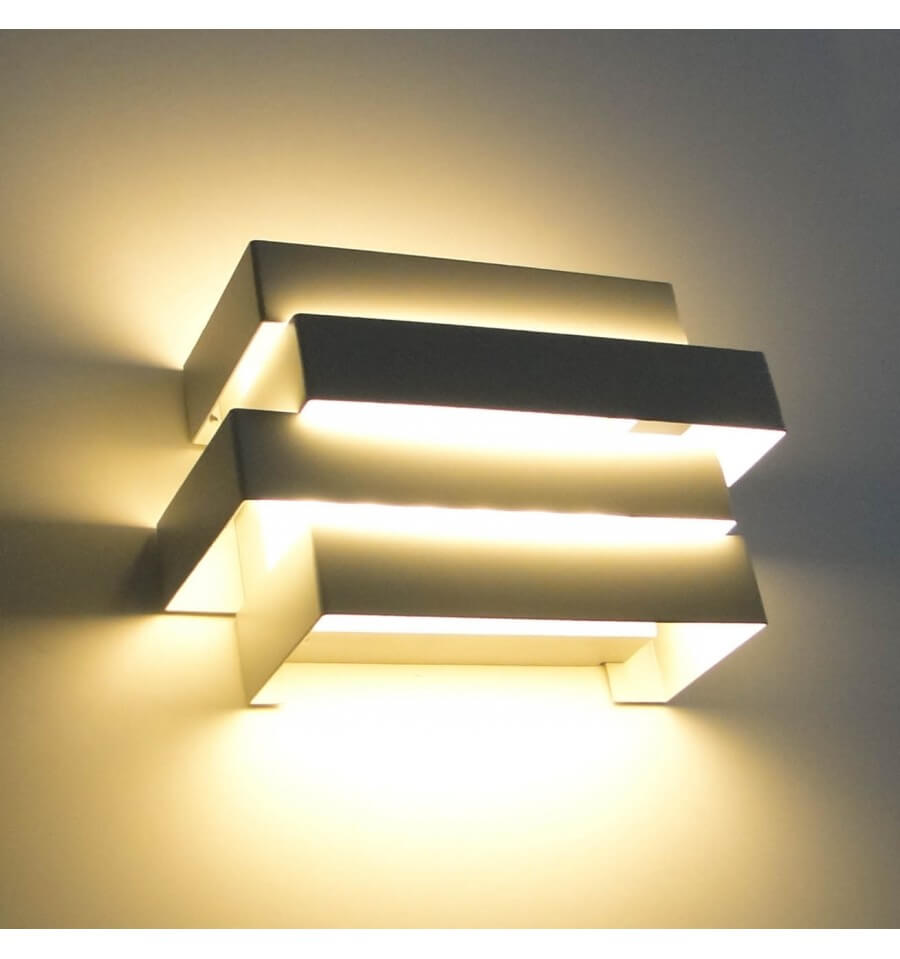Spot Double Eclairage Exterieur Applique Led Moderne Design Scala 6x1w