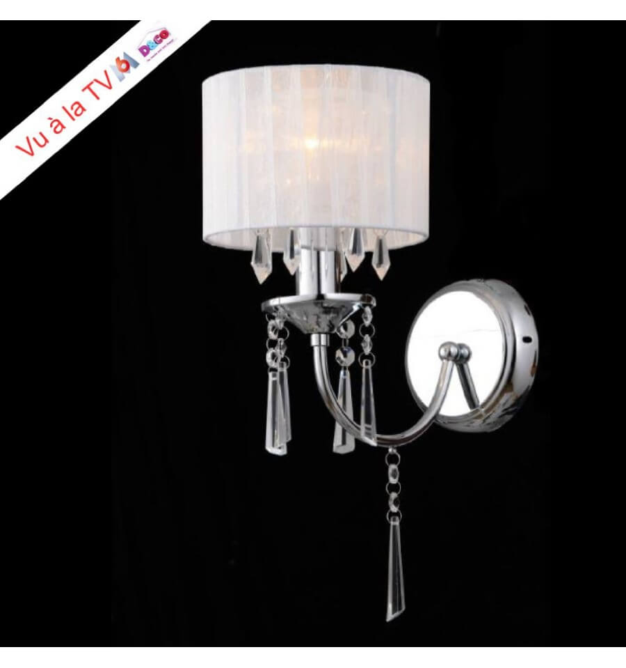 Spot Led Exterieur Blanc Applique Murale Cristal Et Chrome Baroque
