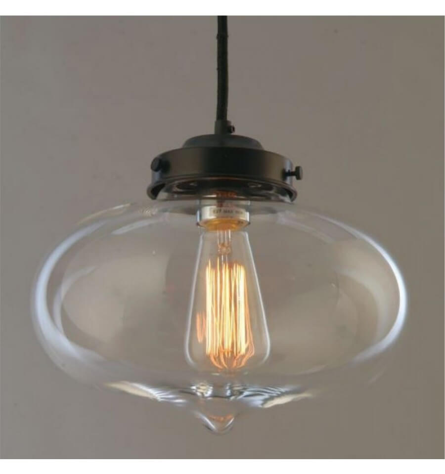 Leroy Merlin Ampoule Suspension Industrielle - Design Ovale Transparent
