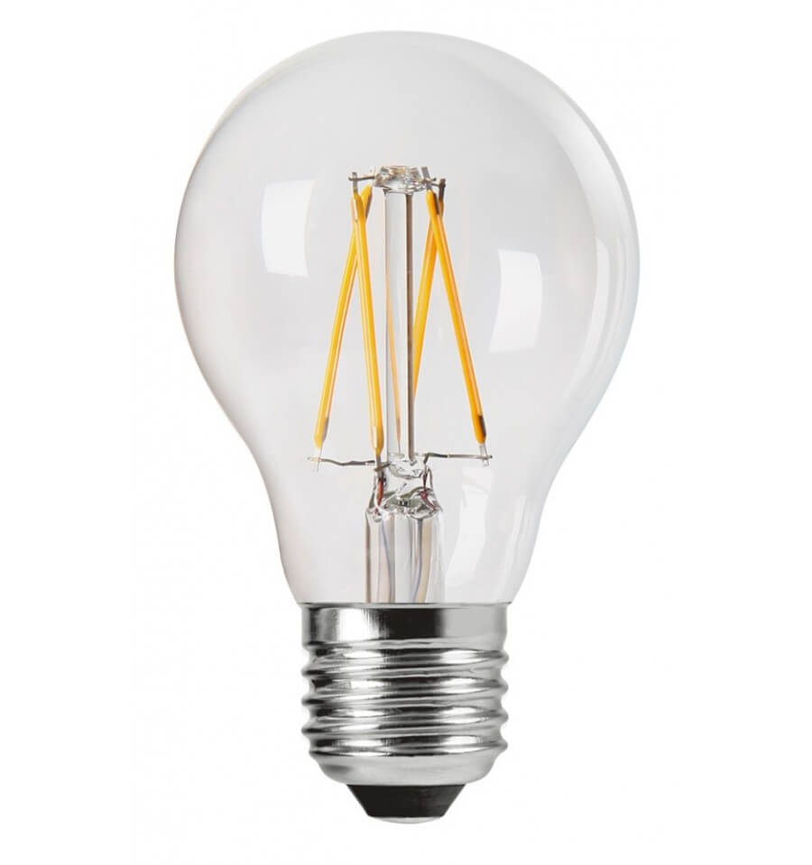 Spot Led Exterieur Blanc Ampoule Filament Led 4w E27 - Verre Transparent Blanc Chaud