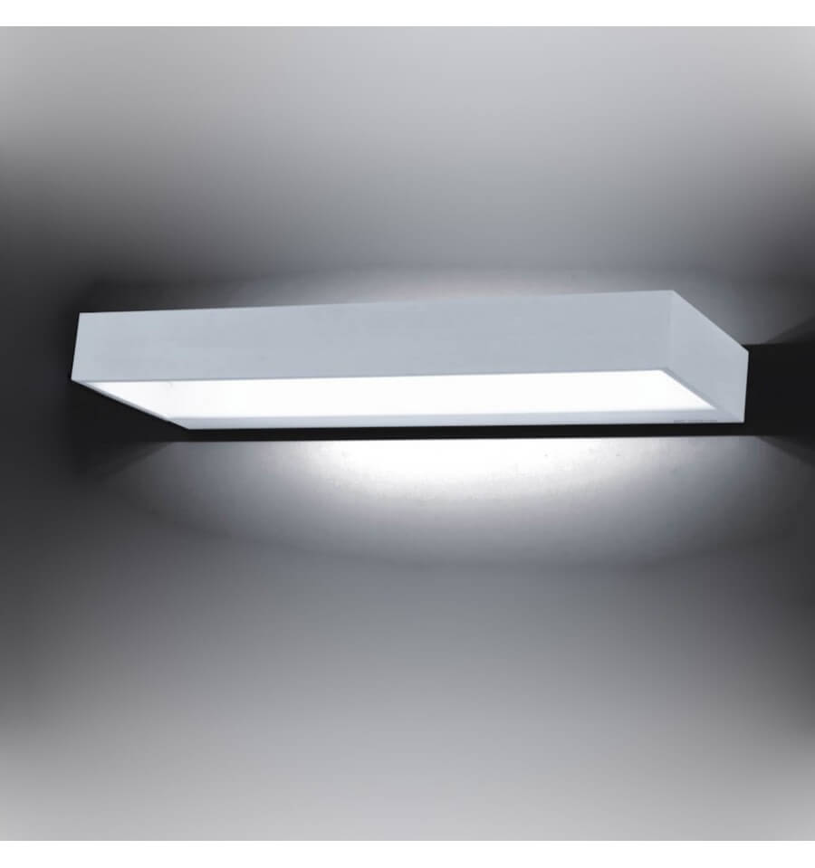 Led E27 10w Applique Murale Led Rectangle | 12w 40 Cm - Recto