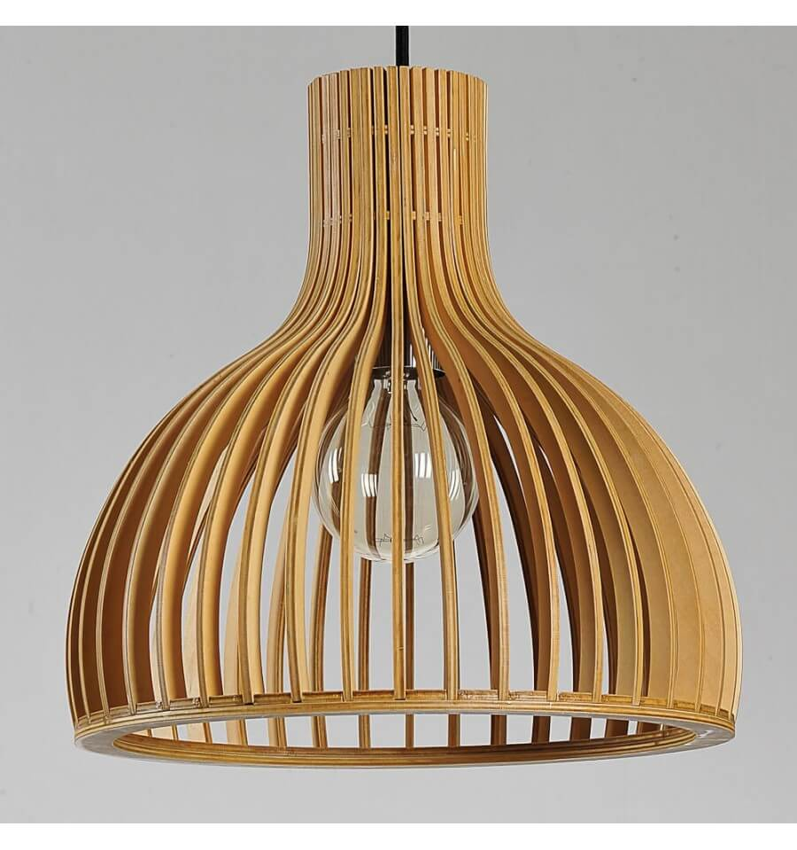 Suspensions Scandinaves Suspension Scandinave Design Avec Abat Jour En Lamelles De Bois
