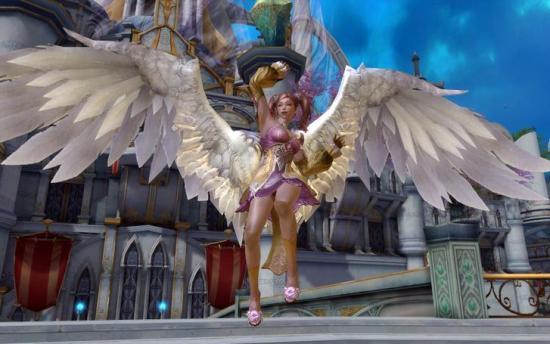 Online Rollenspiele kostenlos - Charakter mit Flügeln