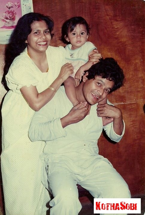 Robin Neog and Hira Neog with their son Indumouli in a happy moment