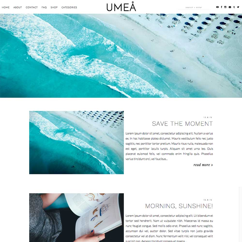Blog Blogspot Wordpress Blogger Template Umea