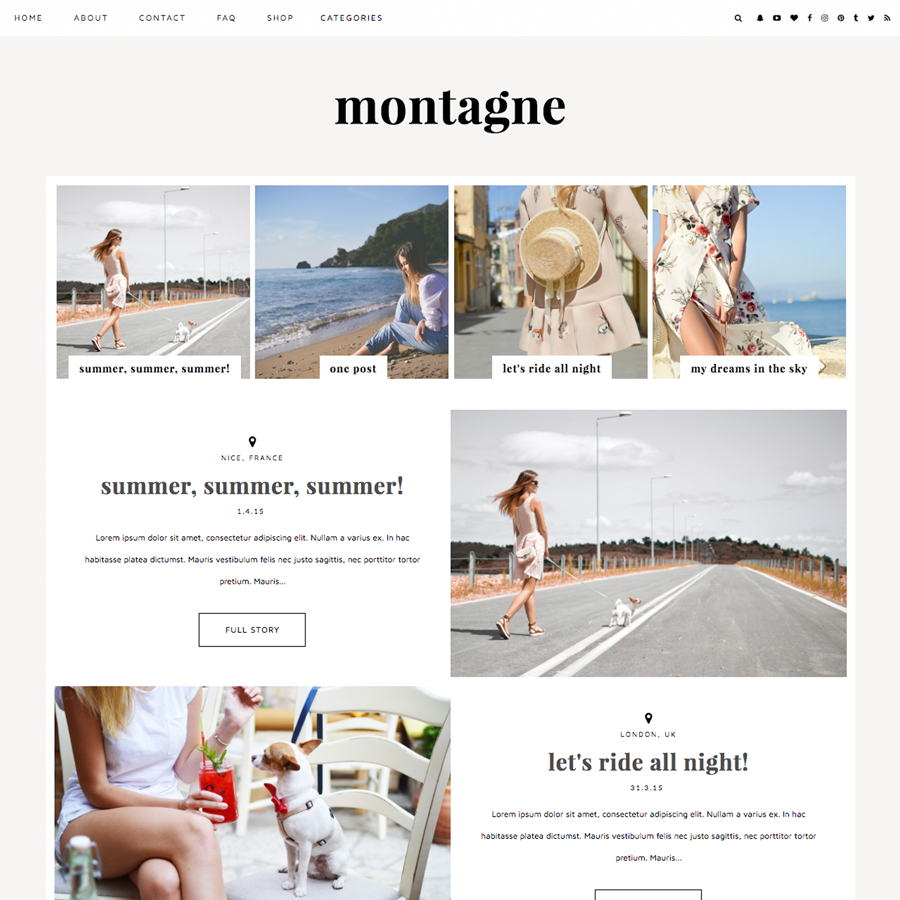 Blog Blogspot Wordpress Blogger Template Montagne