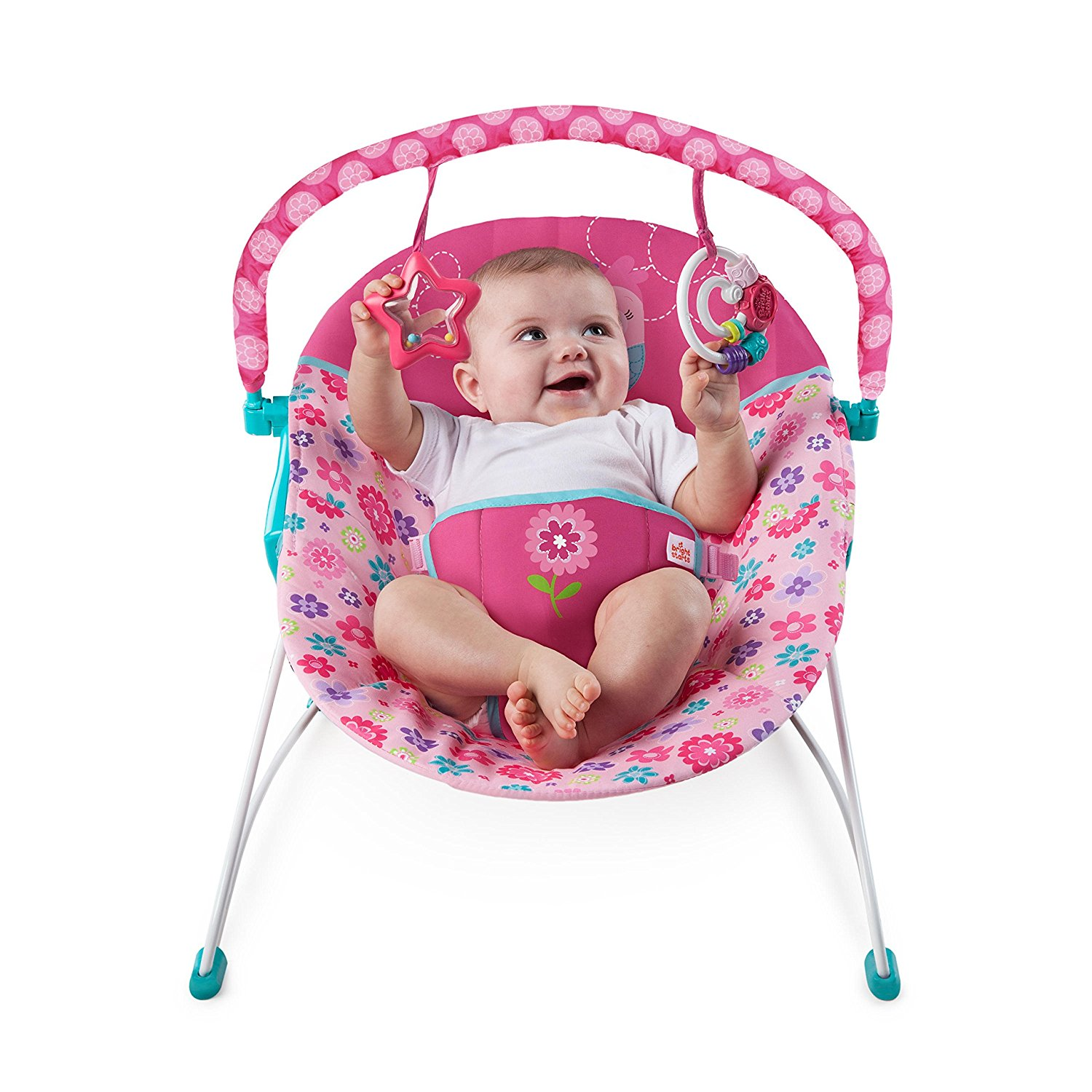 Bouncer Baby Baby Bouncer Vibrating Bright Starts Happy Flowers