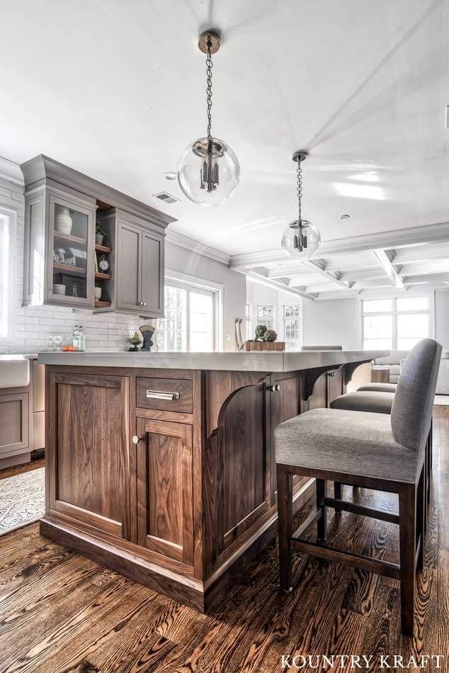 How To Finish Kitchen Cabinets Stain Custom Gray Kitchen Cabinets In Florham Park, New Jersey