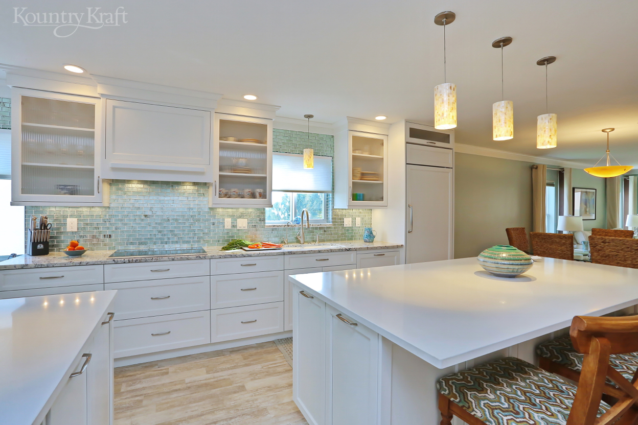 Florida Kitchen Design Gallery Transitional White Cabinets In Venice Fl