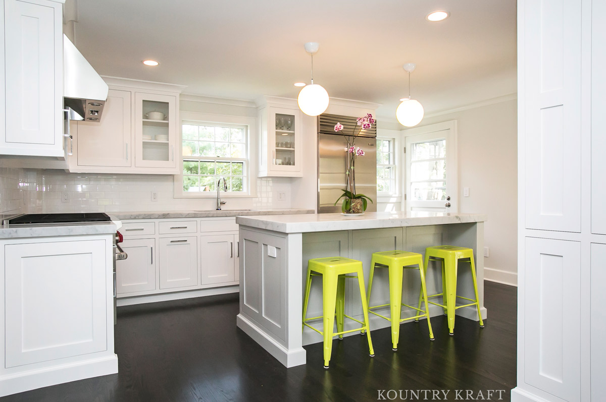 New White Kitchen Cabinets Custom L Shaped Kitchen Cabinets In Summit Nj