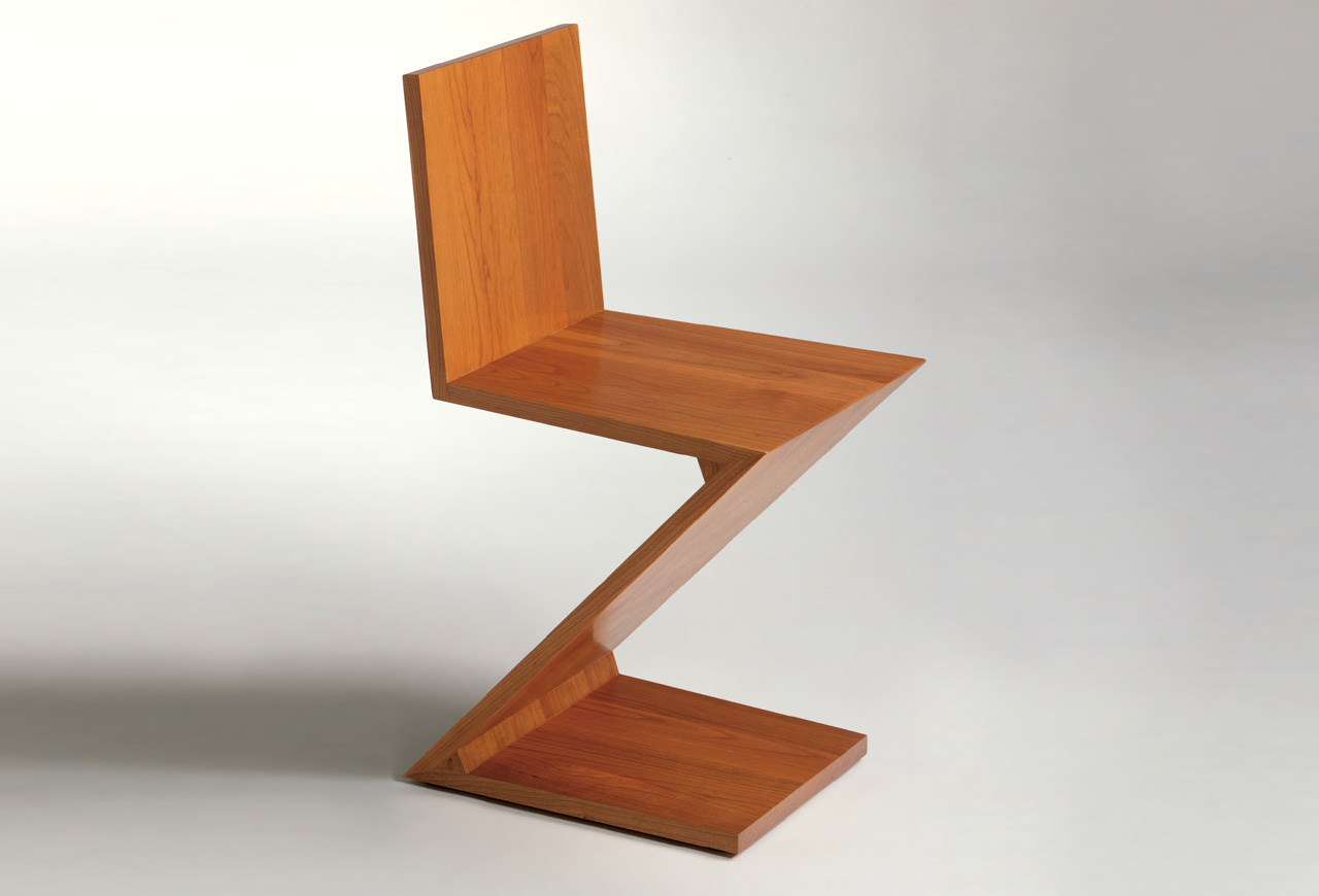 Famous Chairs By Architects Zig Zag Chair By Gerrit Thomas Rietveld Koursi