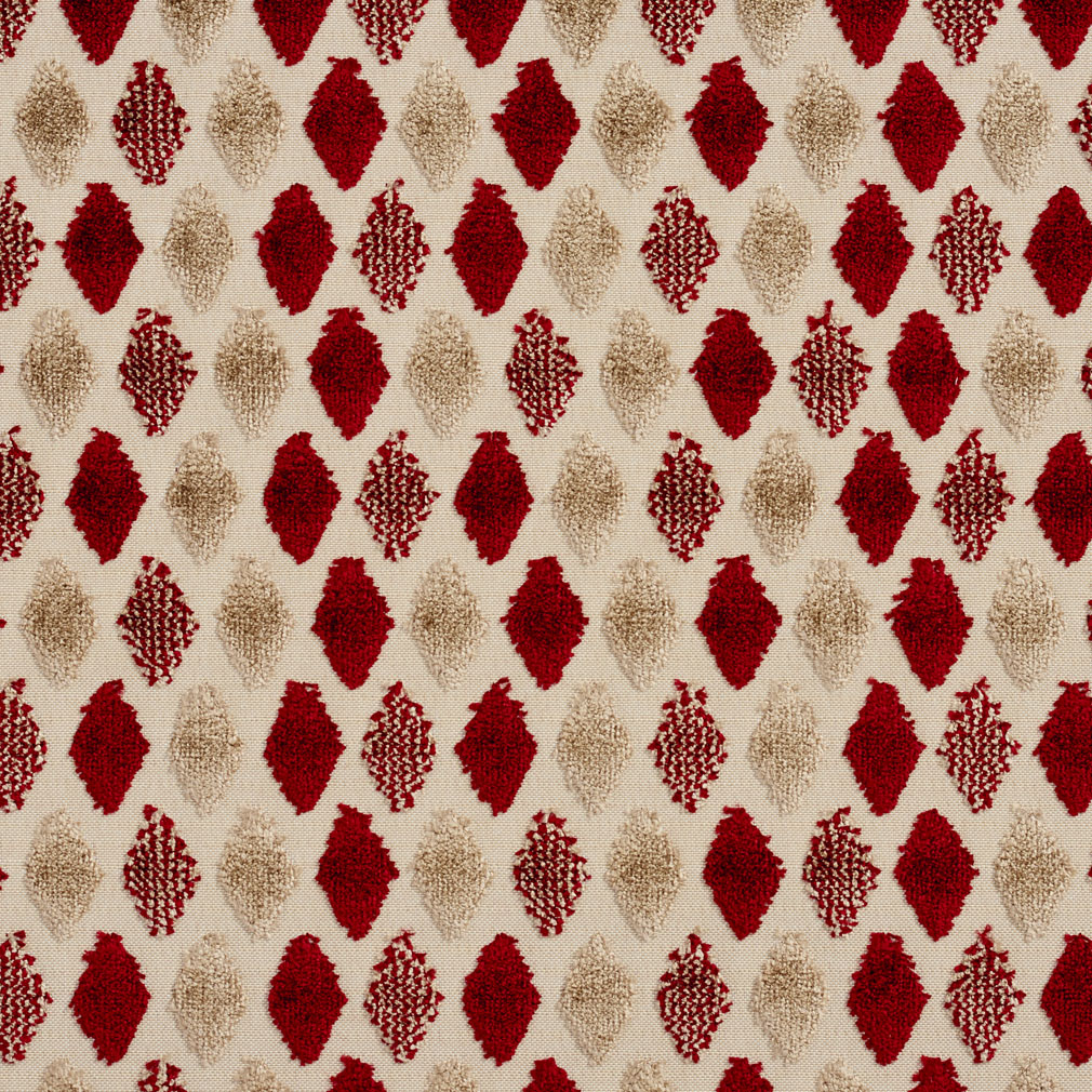 Plaid Taupe Beige And Burgundy Soft Velvet Tufted Diamond Pattern ...