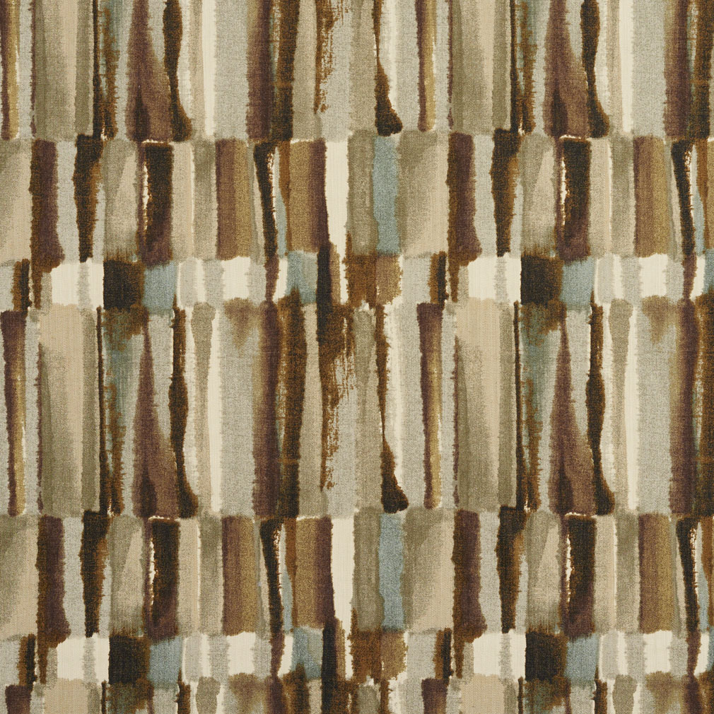 Twill Stoff Brown And Grey Watercolor Abstract Bark Or Bamboo Print