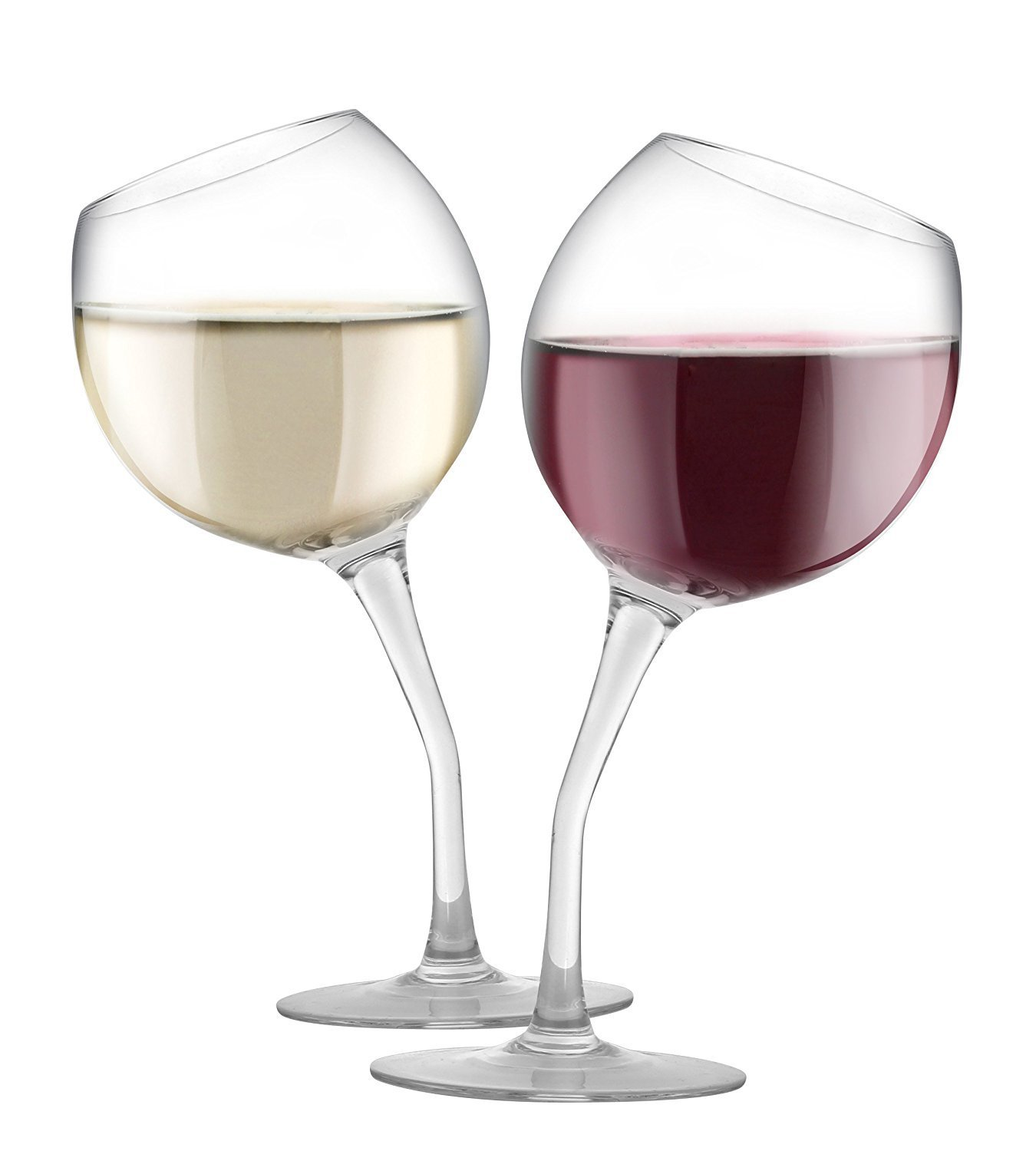 Wine Glasses Tilted Wine Glass Set