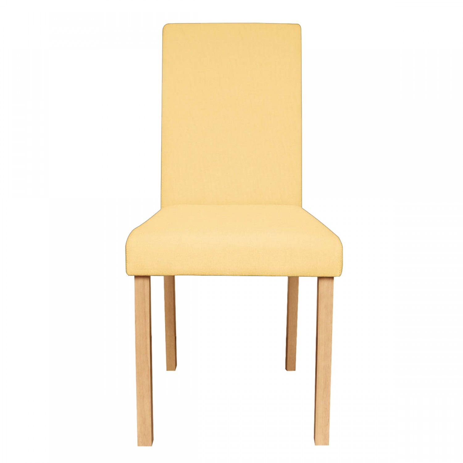 Salon En Tissu Chaise De Salon En Tissu Jaune Lot De 2 Koya Design