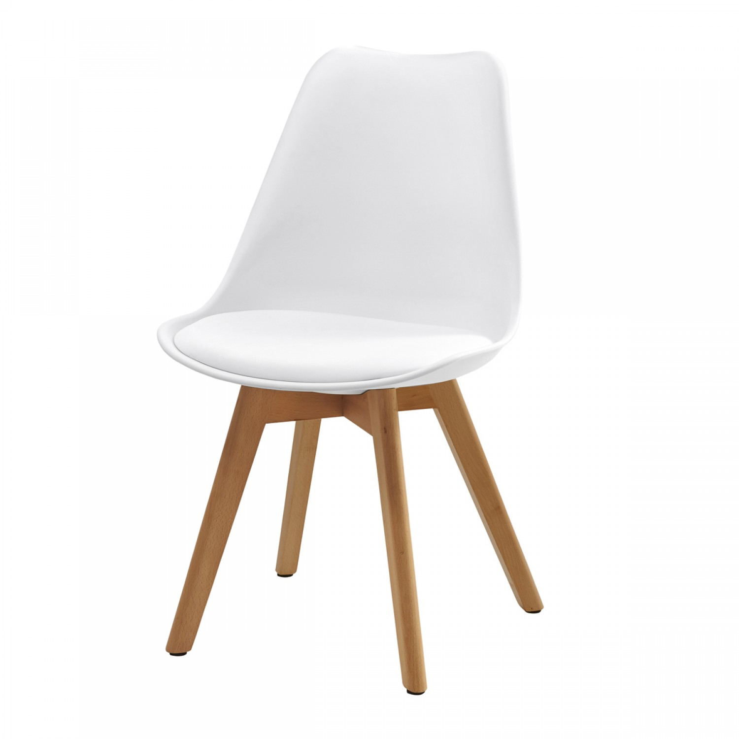 Chaise Blanche Scandinave Chaise Scandinave Blanche Lot De 2 Koya Design
