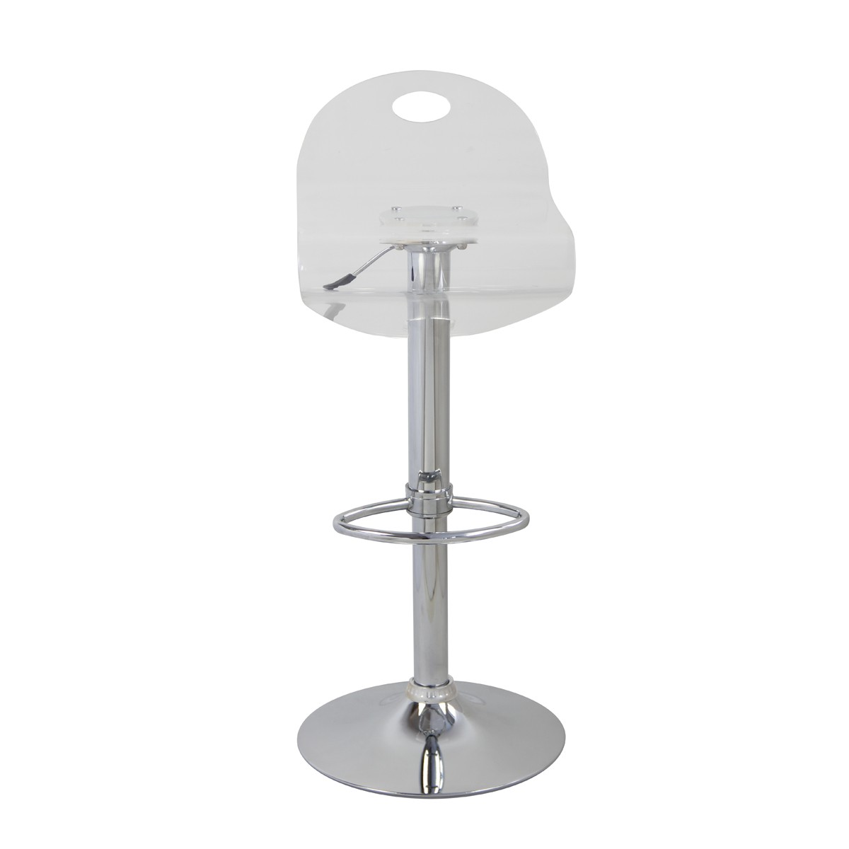 Tabourets Plastique Transparent Tabouret De Bar Curve Transparent Lot De 2 Koya Design