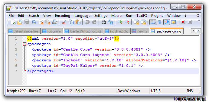 nuget_log4net_fail_solution