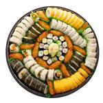 Kama'aina Plate (98pcs) - Makimono: California Maki,Tempura Maki, Futo Maki, Egg Maki Hosomaki: Ume, Cucumber & Shinko Maki Other: Inari