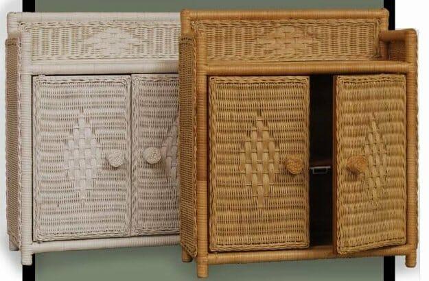 45805 Full Door Wicker Wall Shelf Kozy Kingdom