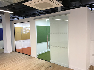 Glass Partition Frosted