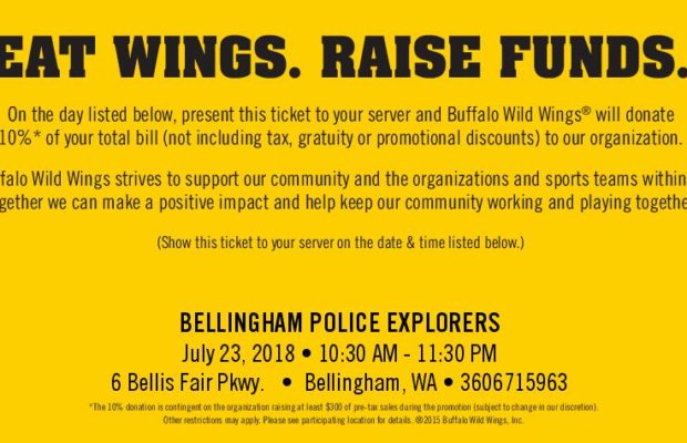 Dine At Buffalo Wild Wings  Support Bellingham Police Explorers