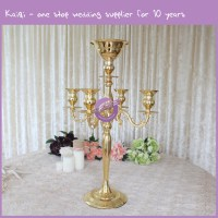 Gold Crystal Candle Holder - KaiqiKaiqi Wedding