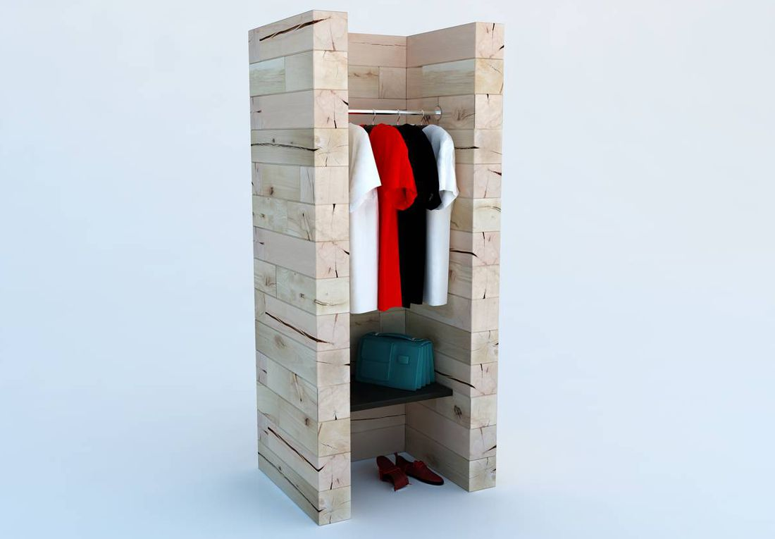 Garderobe Holz Design The Interior Design
