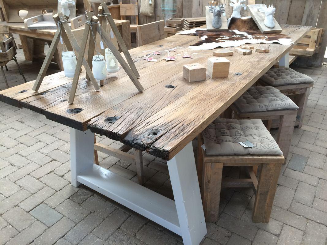 Robuuste Eiken Tafel : Eiken tafel robuust interieur