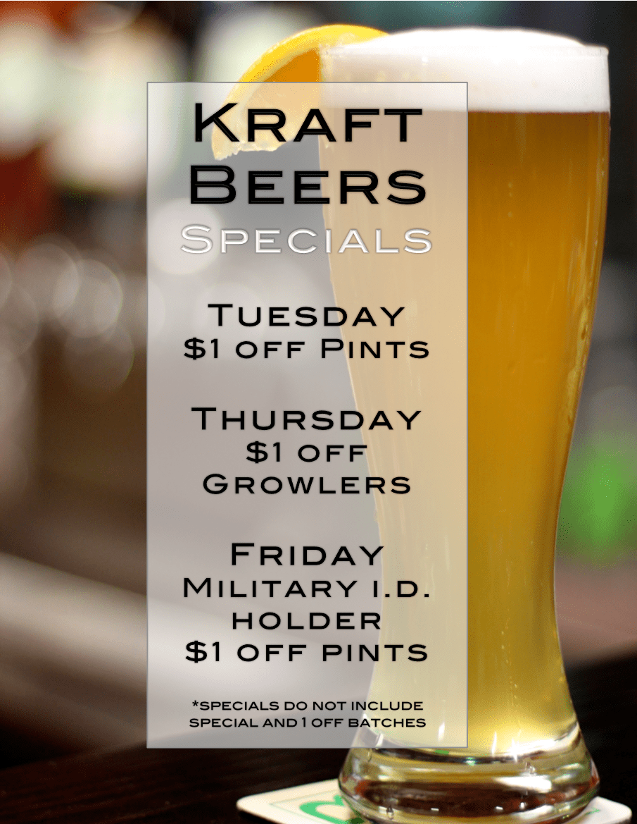 Beer Specials Check Out Our New Specials Kraft Beer